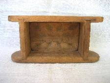 Butter mold, box type with carved leaves or thistles