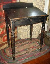 antique slant top desk black paint finish