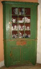 Painted Corner Cupboard